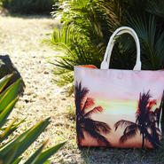 "Reversible Tote Bag ""Palmtrees"""