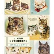 ミニノートブック3冊セット ヴィンテージキャット