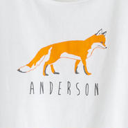 Ladies T fox white