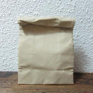 BROWN CANVAS BAG / L