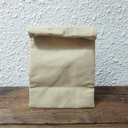 BROWN CANVAS BAG / M