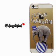 【iPhoneSE/5s/5】♥Bestseller♥Animal pop case ELEPHANT