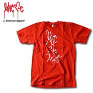 【LOVE ME】 American Apparel T-shirt [Red] 100LTD