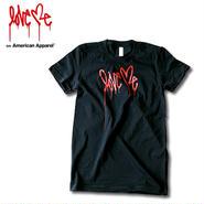 【LOVE ME】 American Apparel Women's T-shirt [Black]