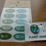 ★最新作★ 12星座美学シール +惑星マグネット「土星」スペシャルセット
