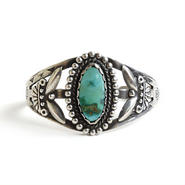 Fred・Harvey Style Turquoise Bracelet