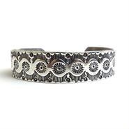 Silver Sun Rays Head Dress Bracelet