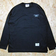 So Glad  L/S Pocket TEE BLK