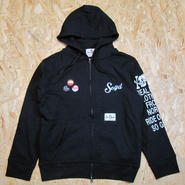 So Glad SKULL Zip Parka BLK