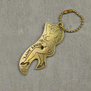 """Lady Luck""Nude girl opener key ring"