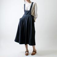 サロペットスカート/ブラック