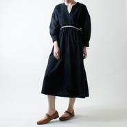 カットドット・ワンピース/ブラック