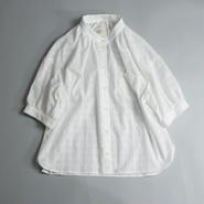 ドビーチェック・シャツ/ホワイト