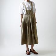 <受注製作>サロペットスカート/ベージュ