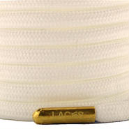"""ROPE LACES SOLID/METAL BULLET """"SNOW/METALGOLD"""""""