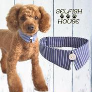 犬猫用付け襟 ブルーストライプ【S~LLサイズ】