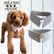 犬猫用付け襟 シンプルストライプ【S~LLサイズ】