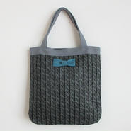 medium tote summer fake knit black