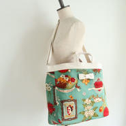 adjust strap tote Frida Kahro green white