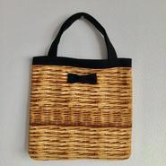 small tote fake basket black