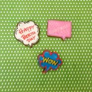 アメコミ風 吹き出しクッキー Happy birthday
