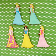 プリンセスクッキー ☆アンデルセン・グリム童話・おとぎ話☆ プチギフトやケーキの飾りにおススメ!!