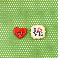 wedding thanks gift 向き ☆ハートフェイス&LOVEクッキー ~オーガンジーリボンラッピング付き~  父の日やバレンタインデーにもおススメ!