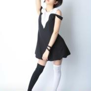 中野杏 A4写真 白黒ワンピ1