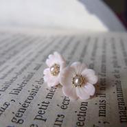 K10コンク貝花のピアス