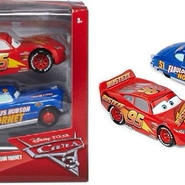 ディズニー・ピクサー カーズ  クロスロード CARS3 1/43  2PC Lightning McQueen & Fabulous Hudson Hornet