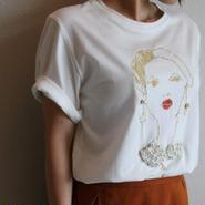 ガール刺繍Tシャツ