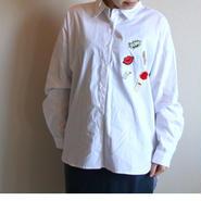 大人パッチシャツ