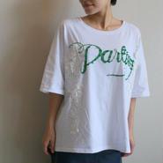 レーススパンコールTシャツ