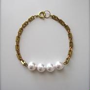 Saphiret パール×チェーンブレスレット [ pearl ]