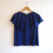 ラッフルカラーカットソー[blue]