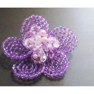 お花のコサージュ・ブローチ(紫陽花紫)