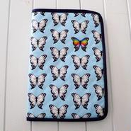 オリジナル柄の手帳ケース 蝶々柄(1) 綿素材