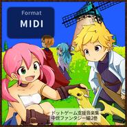 [mid][Battle/Event/Suspense][40曲] ドットゲーム支援音楽集 ~中世ファンタジー編~ 2巻