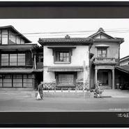 林安直オリジナルプリント『長野県松本市・横田遊廓 1982』