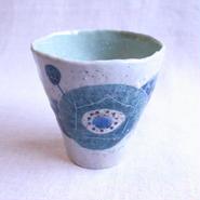 花椿(青)フリーカップ