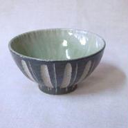 灰釉 鎬 飯碗(小)