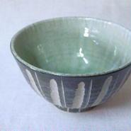 灰釉 鎬 飯碗(中)