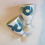 青の椿 洋酒盃