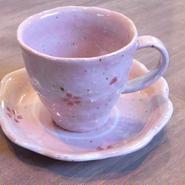 桜コーヒー碗 セット