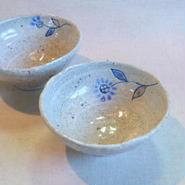 彫線花 飯碗