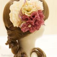 髪飾り✿紫アイボリーダリア【hanano by kezouin】世界に一つだけの髪飾り ak0133