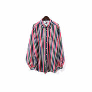 """ TOMMY HILFIGER "" Stripe Over Shirt (size - L) ¥7000+tax【着画あり】"