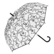 総柄モノクロクマタン(長傘)【KMTG-087】