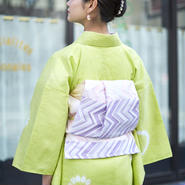 【5-9きもの2017】織り兵児帯 ジグザグ ピンク