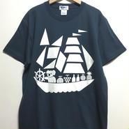 コアラ船プリントTシャツ (slate)